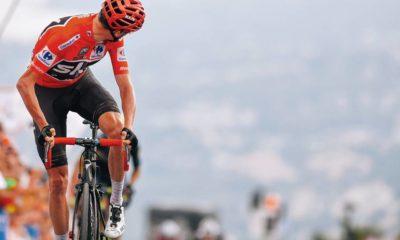 Chris Froome ganando su etapa en la Vuelta