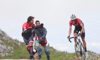 Alberto Contador en el Angliru