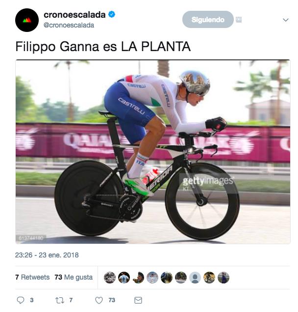 Filippo Ganna tweet JoanSeguidor