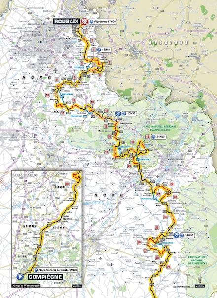 Paris-Roubaix mapa JoanSeguidor